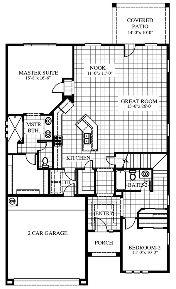 Olympus first floor plan by CareFree Homes