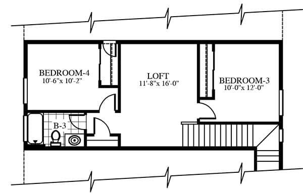 Olympus second floor plan by CareFree Homes